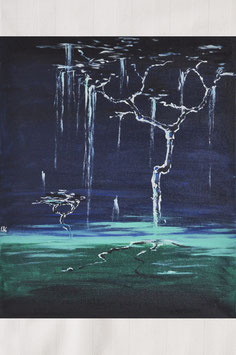 """Ölgemälde – """"Zauber Baum Nacht"""""""