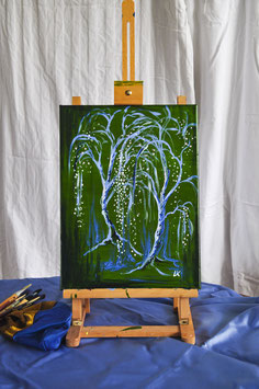 "Ölgemälde – ""Tanzende Bäume"""