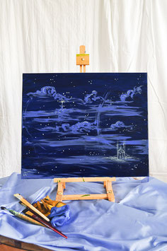 """Ölgemälde – """"Sternenwolkenschloß"""""""