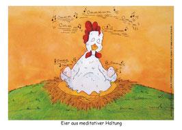 Eier aus meditativer Haltung
