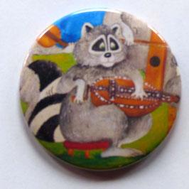 Magnet Waschbär mit Drehleier