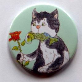 Magnet Katze mit Fisch