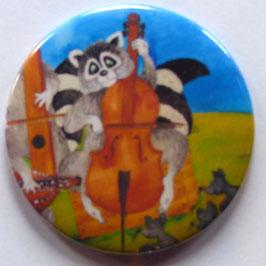 Magnet Waschbär am Cello