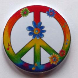 Magnet Peace mit Blume und Noten