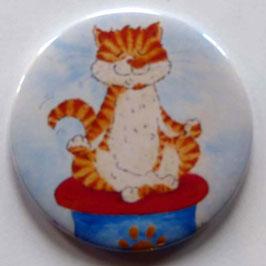 Magnet Yoga Katze