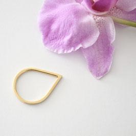 gouden drop ring maat 16,5