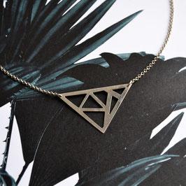 Driehoek collier zilver