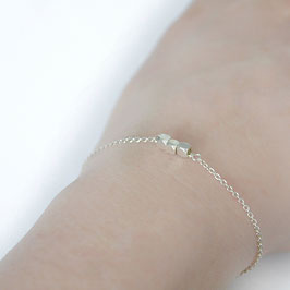 Facets 3 armband zilver