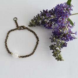 Brons bergkristal armband