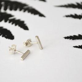 zilveren streep oorbellen