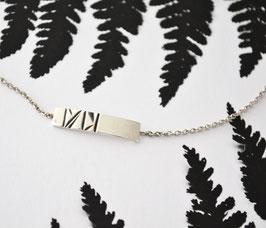 Geometrische streep armband