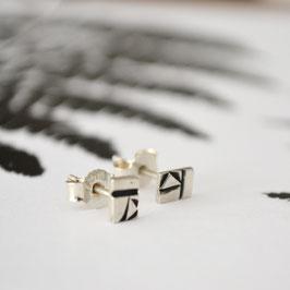 geometrische streep oorbellen