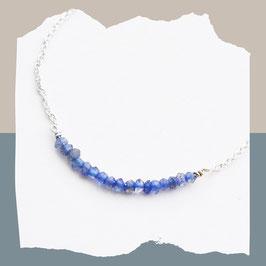 Facet labadorite blue armband sterling zilver
