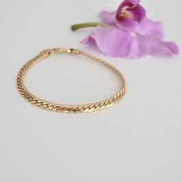gouden plat gourmet armband 18cm