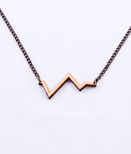 Zigzag collier hout