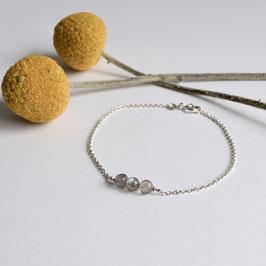 zilveren stones armbandje 17,5 cm