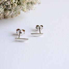 half ronden zilveren oorbellen