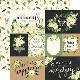 Kartenbogen Sommerblumen