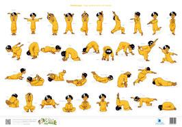"""DIN A2, Kinderyoga XL-Plakat """"Yoga spielend lernen -  mit Ananda"""""""