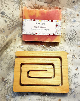Coffret cadeau 2 produits - Savon + Porte savon rectangle