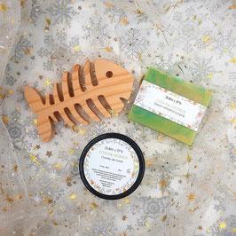 Coffret cadeau 3 produits - savon, porte savon poisson, chantilly