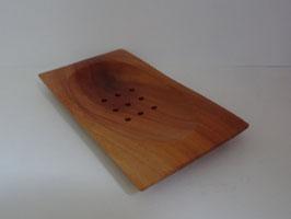 PORTE SAVON en bois d'acajou