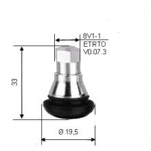 VALVULA GOMA 11.3 mm TR412 con funda cromada