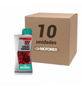 ACEITE MOTOREX CROS-POWER MEZCLA 2T 1L ( PACK DE 10 UNIDAES )