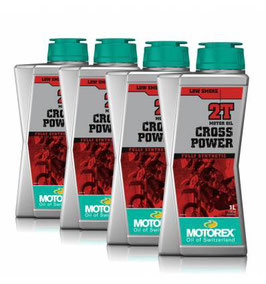 ACEITE MOTOREX CROS-POWER MEZCLA 2T 1L ( PACK 4 UNDS )