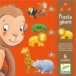 Puzzle géant Ouistiti et ses amis