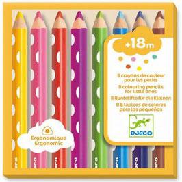 8 crayons de couleur