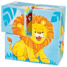 Cubes animaux sauvages