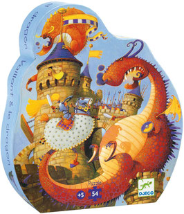 Puzzle Silhouette Vaillant & le Dragon