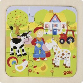 Puzzle bois 9 pièces