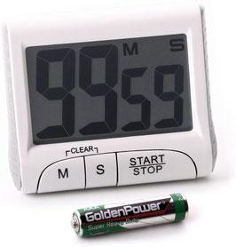 Timer mit Countdown mit Magnethalterung Fuß Count-Up Stoppuhr großes Display