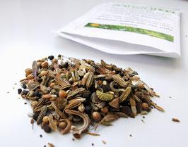 Qualitäts-Saatgut pollen- und nektarreicher Kultur- u. Wildpflanzen - mit vielen heimischen Arten! Je Tüte 4g/2m² Mehrjährig!