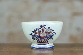 Bowl diameter 12cm - Blue and red basket pattern