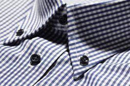 """Hemd """"modernArt"""" in blau kariert"""