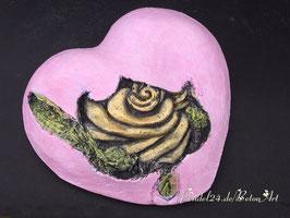 Herz mit versunkener Rose