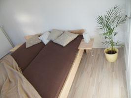 Echtholzbett Kernesche  Doppelbett Fuss II