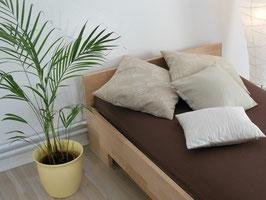 Echtholzbett Kernesche  Einzelbett  mit Fuss II