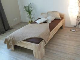 Echtholzbett Kernesche  Einzelbett  mit Fuss I