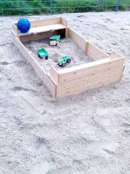 Sandkasten 200 x 125 cm