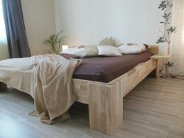 Echtholzbett Kernesche  Doppelbett Fuss I