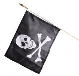 """Fahne mit mit Stock """"Pirat"""" für Spielturm"""