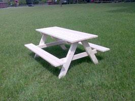 Kinder-Picknicktisch aus Fichtenholz vollmassiv unbehandelt