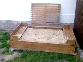 Sandkasten 200 x 125 cm mit Abdeckung