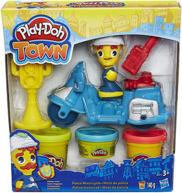 Play-Doh Polizeimotorrad