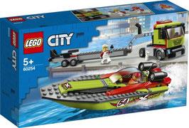 LEGO CITY Rennboot-Transporter