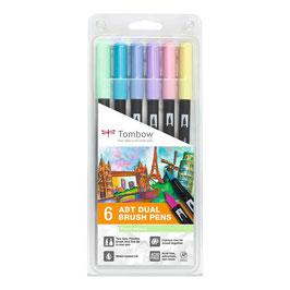 TOMBOW Dual Brush Pen 6 Stk. sort.